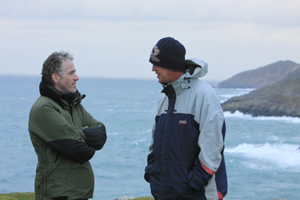 BBC Presenter Gordon Buchannan, with Simon Duggan © Pádraig Whooley, IWDG 11/12/12