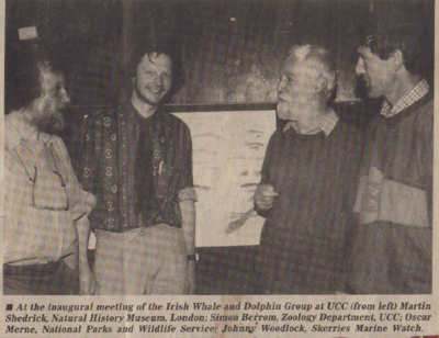 Oscar Merne 2nd from right at 1st IWDG meeting UCC 1990